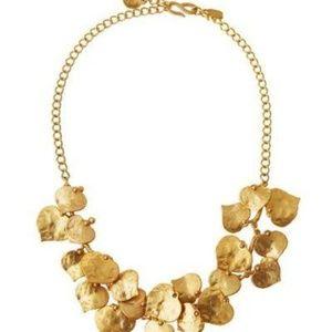 Kenneth Jay Lane Golden Branch & Leaf Necklace #27